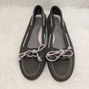 Sperry Shoes - Sperry Gray & Lavender Top-Sider Leather Boat Shoe